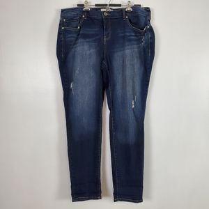 Torrid jeans, boyfriend, dark wash 20 TALL